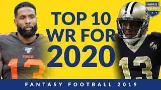 Top 10 Wide Receivers For 2020 Fantasy Football
