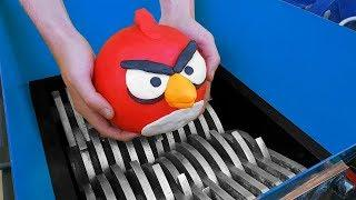 Experiment Shredding Machine and Angry Birds!