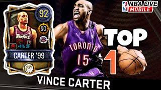 92 Overall Vince CARTER '99 Top 10 PLAYS! | Time Vault Rookie of the Year Player | NBA Live Mobile