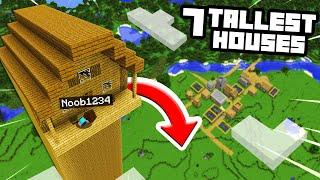 Top 7 TALLEST Houses In Minecraft To Hide From Noob1234! ( Preston Minecraft)