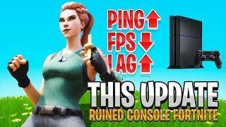 So Console Fortnite Is BROKEN Again... (Fortnite PS4 + Xbox - New Update)