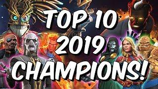 Top 10 2019 Champions! - The Year Of The Beyond God Tier - Marvel Contest of Champions