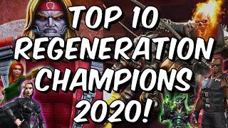 Top 10 Regeneration Champions 2020 - Best Healing Characters - Marvel Contest of Champions