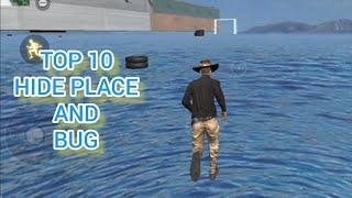 TOP 10 HIDE PLACE AND BUGS