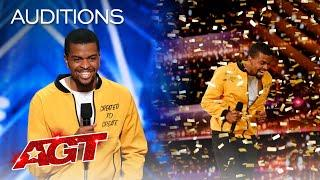 Golden Buzzer: Brandon Leake Makes AGT History With Powerful Poetry - America's Got Talent 2020