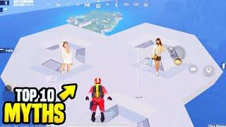 *SECRET* Place Found in BGMI • TOP 10 MYTHBUSTERS in PUBGM And BGMI | Top 10 Myths
