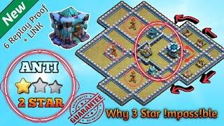 Only 1 Star   Best TH13 War Base (2020) + 6 Defense Replay Proof + LINK (3 Star Impossible)