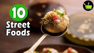 10 Street Foods India | Indian Street Food Recipes | North Indian Street Food | Chaat Recipes