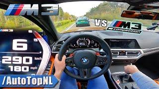 BMW M3 G80 *MANUAL* TOP SPEED on AUTOBAHN by AutoTopNL