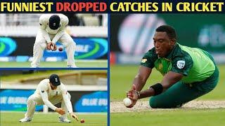 Top 10 Funniest Dropped Catches in Cricket History ||