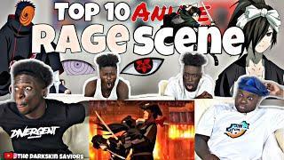 Top 10 Anime Rage Scenes
