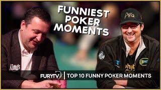 TOP 10 FUNNIEST POKER MOMENTS OF THE DECADE!