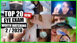 ASMR / EYE EXAM (Face Touching, Eye Cleaning, Medical Exam) / TOP 20 / 2/2020 / ASMR Charts