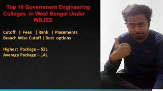 Top 10 Government Engineering Colleges  in West Bengal Under  WBJEE  Cutoff |Fees | Rank |Placements