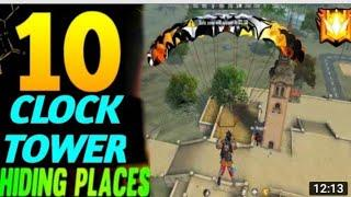 Clock Tower Hide Place In Free Fire! Top 10 Hidden Place In Bermuda By Y_ P Gaming-Garena Free Fire