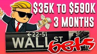 r/wallstreetbets $35K to $590K in 3 MONTHS (WSB YOLO OPTIONS TRADING)