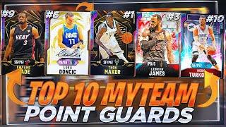 THE TOP 10 BEST POINT GUARDS IN NBA2K20 MYTEAM THAT ARE ON EVERY GODSQUAD!!