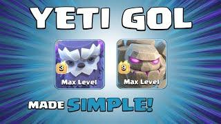 DREAM TEAM = 3 X GOLEMS & 10 X YETIS! Best TH13 Attack Strategy - Clash of Clans
