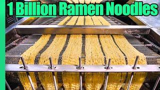 Ramen Noodle Factory Tour!! Making 1 BILLION Noodles a Year!!