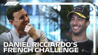 Daniel Ricciardo's Funny French Challenge | Formula 1