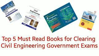 Top 5 must read books for Clearing Civil engineering Government exams | By Nice engineering