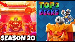 TOP 3 SEASON 20 DECKS! CLASH ROYALE SEASON 20 BEST DECKS + OP META!