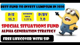 BEST MUTUAL FUND FOR LUMPSUM INVESTMENT IN 2020 || SIP + FREE LIFE INSURANCE