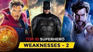 Top 10 Superhero WEAKNESSES Explained in Hindi Ft. #Comickar