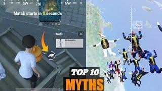 TOP 10 MYTHBUSTER IN PUBG MOBILE LITE || SERVER FREEZE H**K IN PUBG LITE | PUBG LITE MYTHS