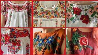Very Attractive And Classy Brazilian Hand Embroidery Design Patterns For Top And Blouse