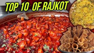 Top 10 Indian Street Foods in Rajkot | Famous Street Foods of Gujarat | Street Food India