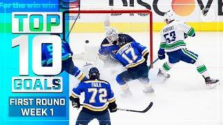Top 10 Goals from Week 1 of the First Round | Stanley Cup Playoffs | NHL