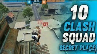 TOP 10 CLASH SQUAD SECRET PLACES FREE FIRE | CLASH SQUAD TIPS AND TRICKS IN FREE FIRE (PART - 1)