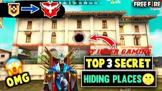 TOP 3 NEW HIDDEN PLACE IN FREE FIRE IN BERMUDA 2021 | RANK PUSH TIPS AND TRICKS IN FREE FIRE 2021||