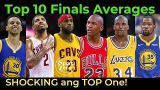 Lebron, Durant at Jordan at ang Top 10 Players na May PINAKAMATAAS na Average sa NBA Finals.