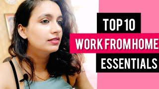 Top 10 Work From Home Essentials India|Manage Work and Home|Increase Productivity by simple changes