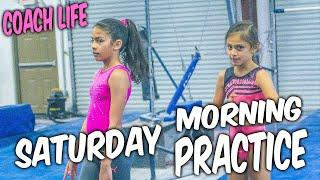 Coach Life: Gymnastics Practice in the Morning| Rachel Marie