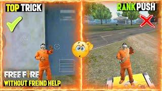 FREE FIRE TOP HIDING PLACES FOR RANK PUSHING | GRANDMASTER RANK PUSHING TIPS AND TRICKS FREEFIRE