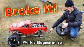 $3000 Giant RC Car Wrecked