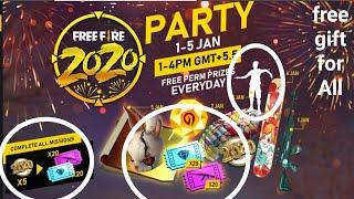 free fire 2020 party JAN 1-5   free weapon royal voucher   SLAUGHTER MP40 SKIN  