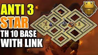 Best Th10 War Base Layout With Link || Anti 2 Star/Anti Bowler/Anti Lavaloon || Clash Of Clans
