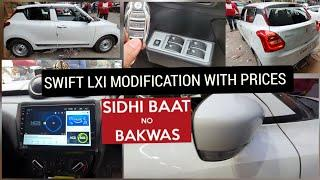 SWIFT Lxi TO Zxi with Prices | Full Modification | Swift Modified | Side Mirror Folding