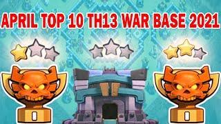 ✅ 2021✅All Time Best TOP 10 TH13 War Base + Link ( 2021 ) | Unbeaten