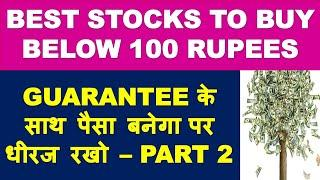 Best stocks to buy below 100 - part 2 | top stock for next 5 years | market crash 2020 latest news