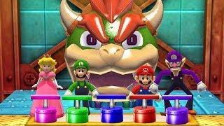 Mario Party The Top 100 MiniGames - Peach Vs Luigi Vs Mario Vs Waluigi (Master Difficulty)