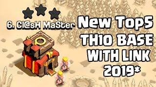 Top 5 NEW BEST TH10 War Base 2019 (With Link) - Town Hall 10 Anti 3 Star War Base - Clash of Clans