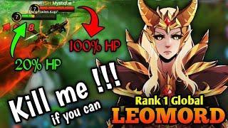 LOW HP??? NO PROBLEM !!! - LEOMORD TOP 1 GLOBAL - Mobile Legends