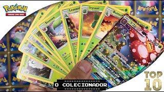 #TOP10 - Melhores Ilustrações Cartas tipo PLANTA - Pokemon Trading Card Game