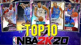 TOP 10 CARDS IN NBA 2K20 MYTEAM RIGHT NOW! THE BEST GALAXY OPALS & PINK DIAMONDS! (NBA 2K20 MYTEAM)