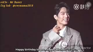 [ENG SUB] 《4/10/18》Reason 肖战Xiao Zhan cried in 2nd Year XNINE concert .